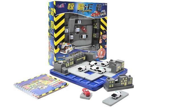 Niños bloqueo de carretera para la policía y ladrón juego juguetes / los niños juguetes educativos con 60 retos y inglés manual de instrucciones