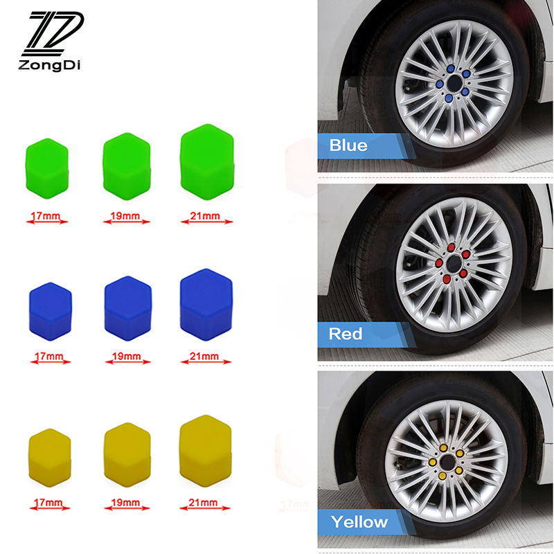 ZD 20Pcs For Skoda Octavia A5 A7 2 Fabia Yeti BMW E60 F30 X5 E53 Inifiniti q50 Silicone Car Wheel Hub Screw Valve Caps Covers