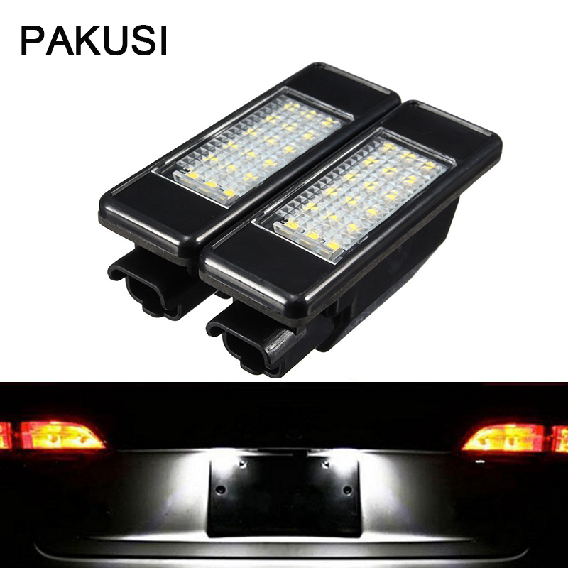 Car Lights Signal Lamp Pakusi Car Led License Plate Lights 12v For Peugeot 307 308 407 207 3008 508 For Citroen C4 C5 C3 Accessories White Smd Led Lamp More Discounts Surprises
