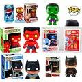 Funko POP 10 CM Bobble Head Figura The Avengers Hulk, Thor e Capitão América Batman homem de ferro Figura de Ação Brinquedos Figura