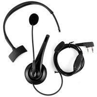 kenwood רדיו 2-פין PTT מיקרופון אוזניות אפרכסת אוזניות עבור רדיו Kenwood Baofeng Uv5R 888S (3)