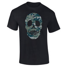 Mens Digital Camo Camouflage Skull Face Skeleton T-shirt S-XXL New T Shirts Funny Tops Tee Unisex
