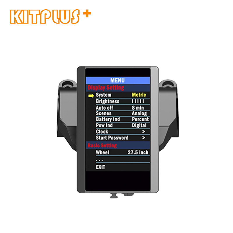TFT 850C Color Screen Display Bafang BBS Mid Drive Motor Colorful LCD Displayer for Electric Bike