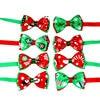 Christmas Holiday Dog Collar Bow Tie 1