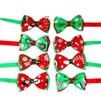 Christmas Holiday Dog Collar Bow Tie 2