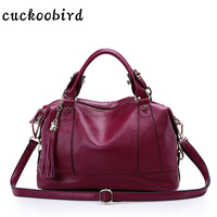 Cuckoobird Designer Women Handbag Female Genuine Leather Bags Handbags Office Ladies Hobos Bag Totes Portable Shoulder