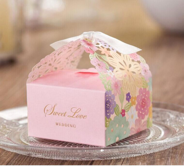 7674 Cm Paper Gift Candy Box Wedding Small Colorful Floral