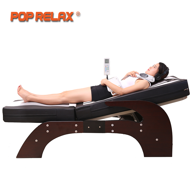 POP RELAX Korea Jade Massage Bed Electric Heating Jade Stone Spine Relax Massager Health Care Full Body Rolling Massage Bed pop relax electric vibrator jade massager light heating therapy natural jade stone body relax handheld massage device massager