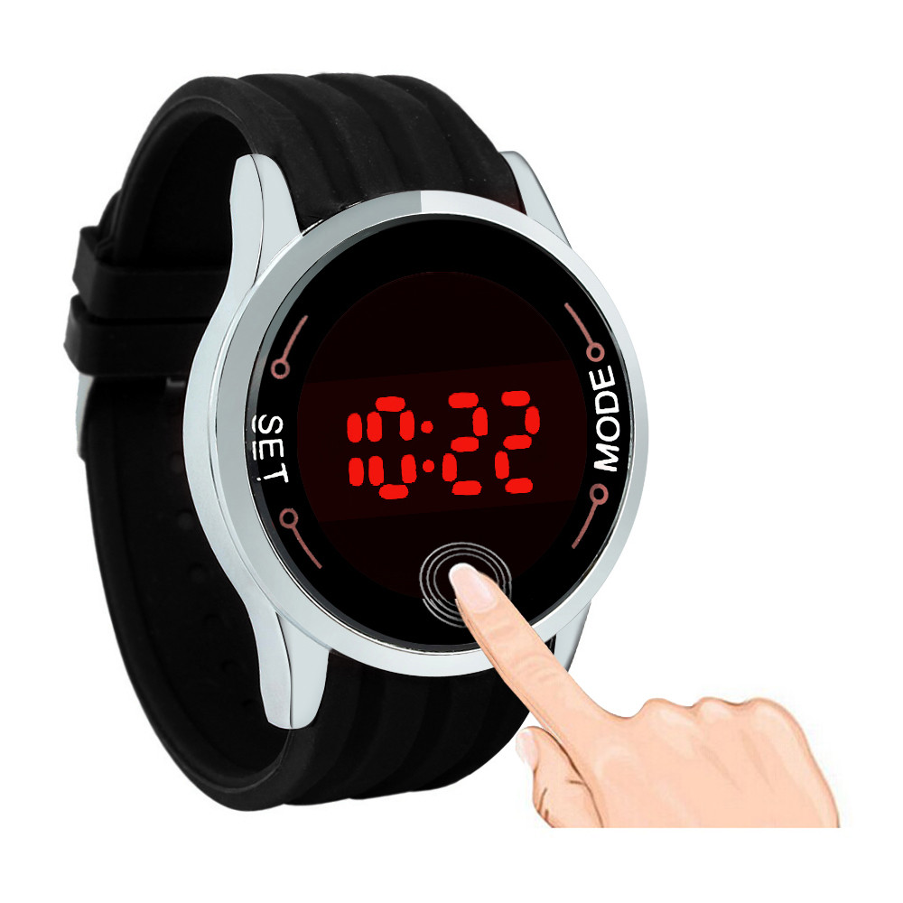 2017 New Design LED Watch Female Fashion sports watches Silicone Candy multicolor touch screen digital man Wristwatch bracelet new fashion silica gel electronic digital touch screen led watch