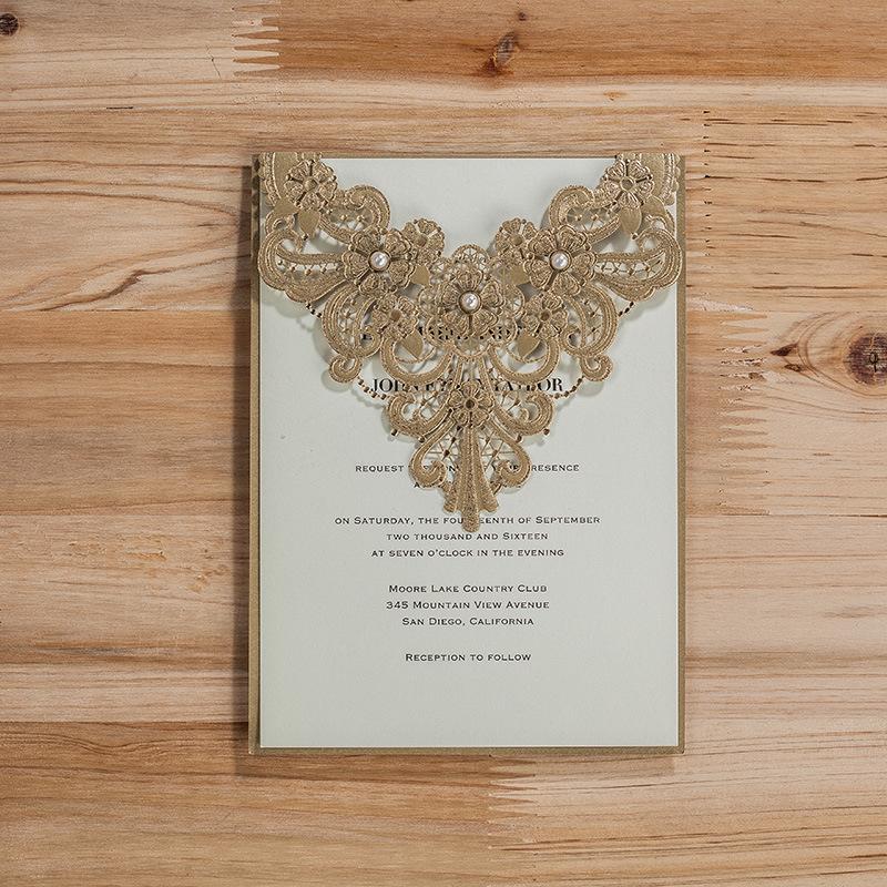 unidslote laser cut de boda con flores de perlas suministros fiesta de