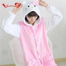 L G TOP NUEVA HOT Pink dot KT Pijamas Adultos Onesie Ropa de Dormir de Cosplay Animal de la Historieta de Halloween Navidad Traje de Las Mujeres de Los Hombres