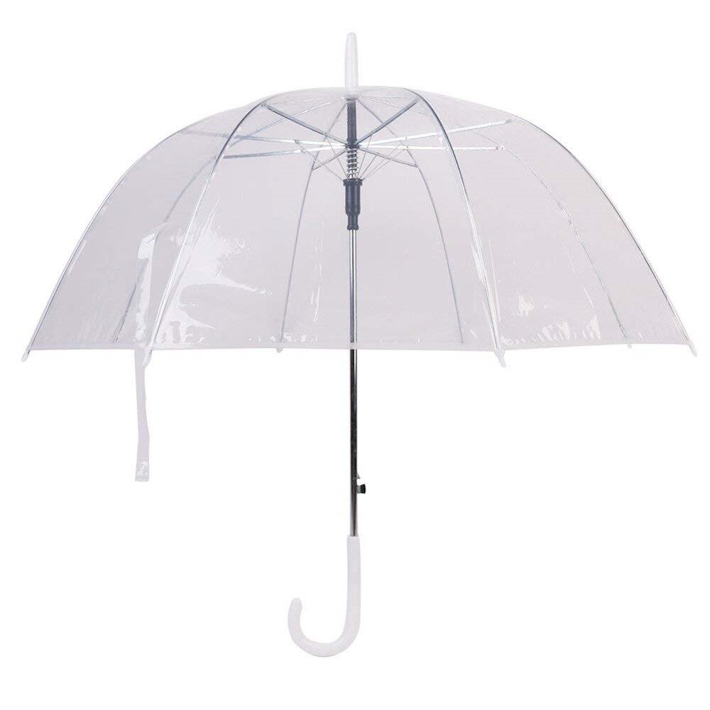 """10 قطع 34 """"كبيرة واضحة لطيف فقاعة العميق مظلّة على شكل قُبّة القيل والقال فتاة الرياح المقاومة شفافة مقبض طويل النساء مظلة-في مظلات من المنزل والحديقة على  مجموعة 1"""