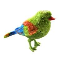 1 шт Пластиковый звук Голосовое управление активация щебетание Поющая птица забавная игрушка подарок для детей