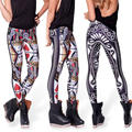 Hot selling 2016 Print Mid Terry Polyester New Arrival Women Legging Pants Printed Pattern Poker Leggings