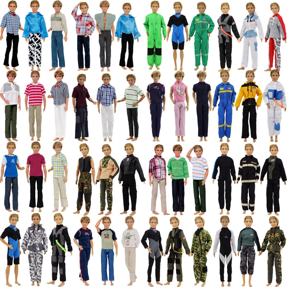 5 Sets Random Outfits Skirt//Shirt//Jacket//Trousers Clothes For 12 inch 1//6 Doll