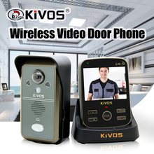 KiVOS 2 4GHz Wireless Video Intercom Doorbell Video Door Phone Camera with Motion Detect video talk auto take photo KDB302A cheap Photograph Electric Supply POMIACAM Color Video Doorbell Wireless video Intercom System lithium battery