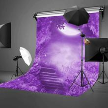 150x220cm Fantastic Night Scene Backdrop Ultraviolet Color Photography Background Mountain Path
