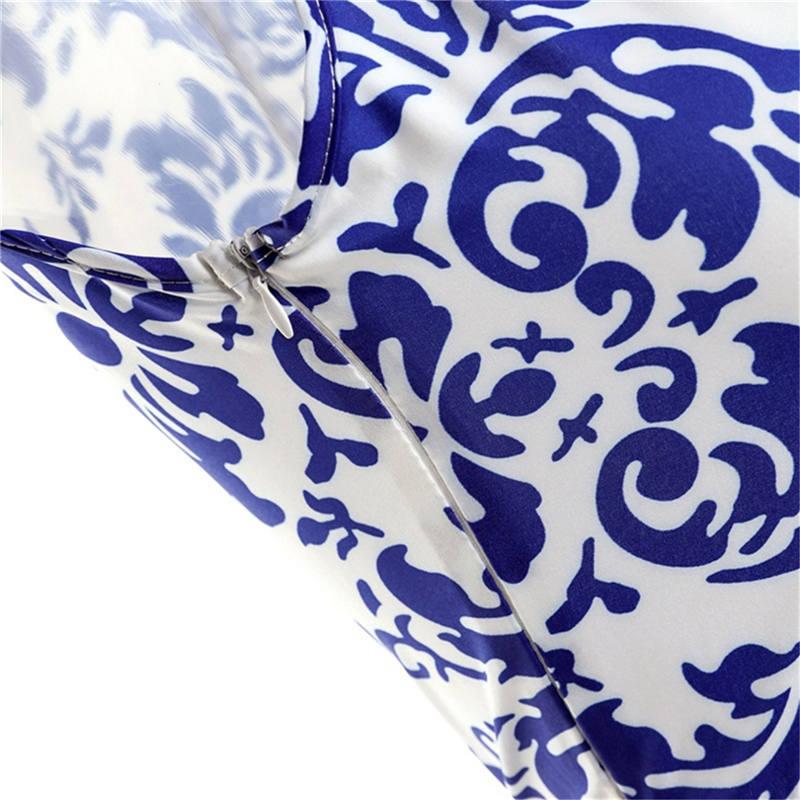 Կանացի կապույտ և սպիտակ ճենապակյա - Կանացի հագուստ - Լուսանկար 4