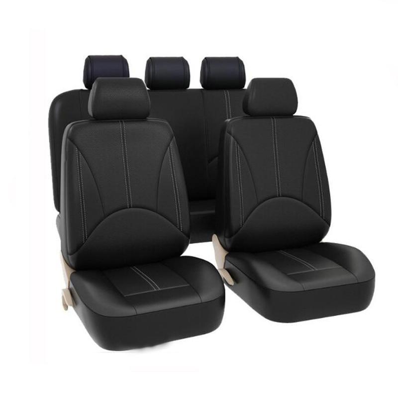 100% Wahr Neue Leder Auto Sitz Abdeckung Deckt Auto Zubehör Für Toyota Prius 20 30 Highlander Rav4 Tercel Vios Kluger Avalon Tacoma Krone