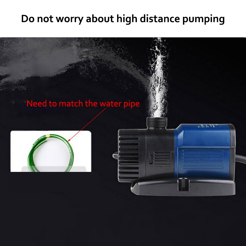 Aquarium Water Pump 220V Aquarium Pump Aquarium Fishing Variable Frequency Submersible Pump Fountain Pump Aquarium Filter (9)