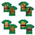 Nuevos Muchachos T Shirt Marca Tortuga de la Historieta de Impresión Camiseta Del Diseñador de los niños Niños Niños Pequeños Tops Tee Ropa Infantil para 2-9Y