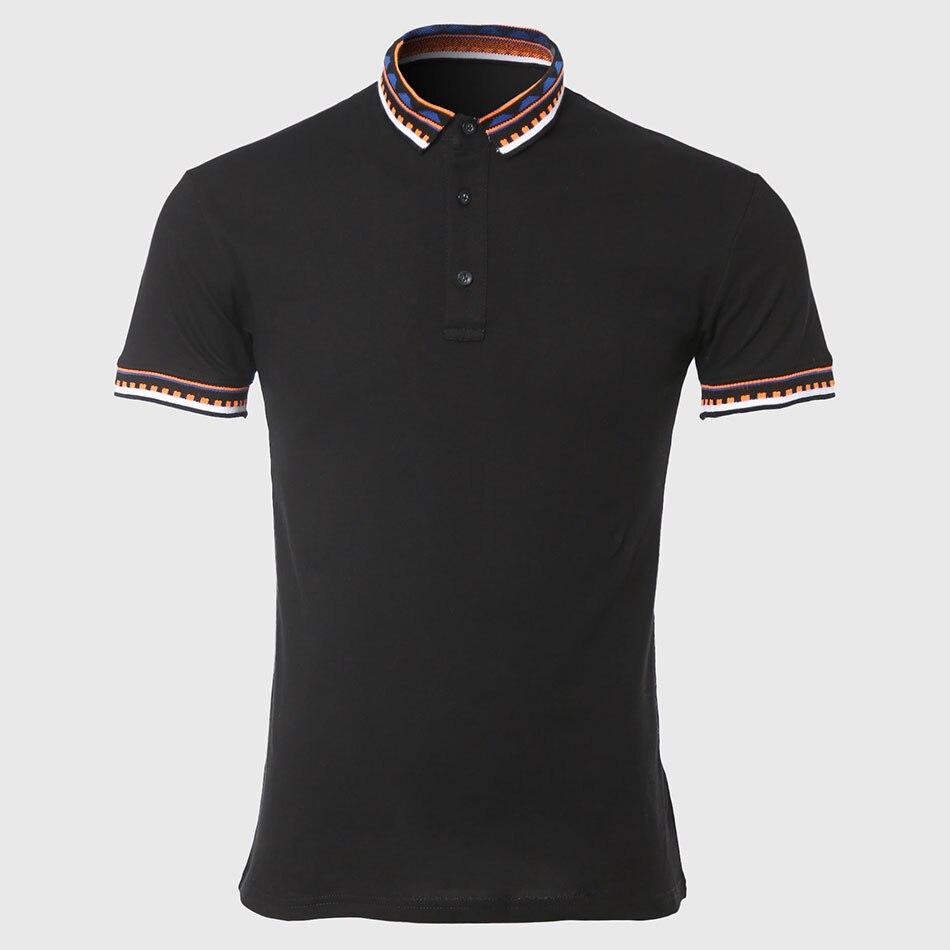 Zecmos Designer Black Men Polo Classic Polo Shirts Male Fashion