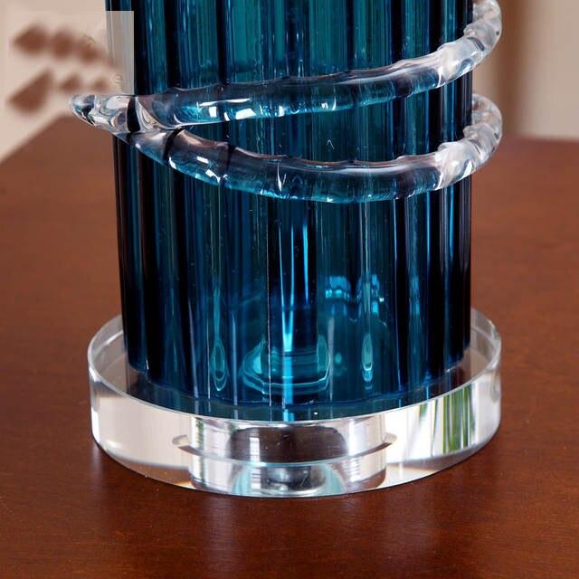 Online Shop Nordic Design Desk Led Lamp Blue Glass Living Room