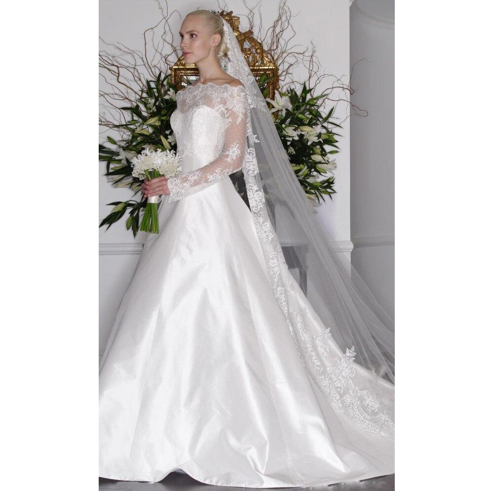 Aliexpress Com Buy Elegant Flare Sleeve Wedding Dress: Popular Long Sleeve Fitted Wedding Dresses-Buy Cheap Long