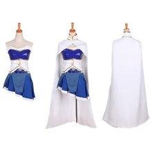 Fantasia cosplay de puella magi madoka magica, traje de halloween personalizado