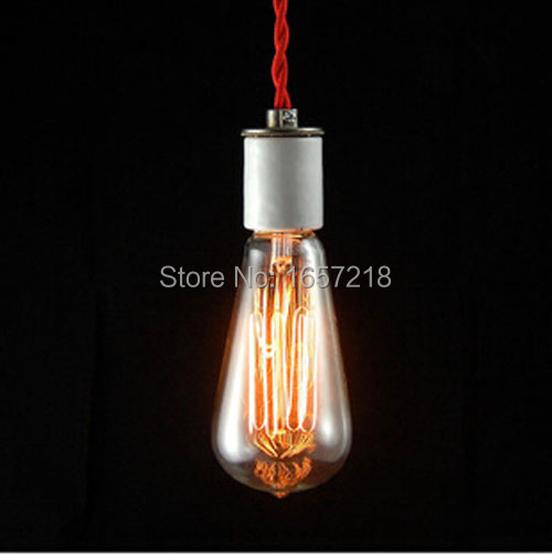ST64 Retro LED/Incandescent Vintage Light Bulb DIY Handmade Edison Bulb Fixtures E27/220V/40W lamp Bulbs Pendant Lamps LRT15122