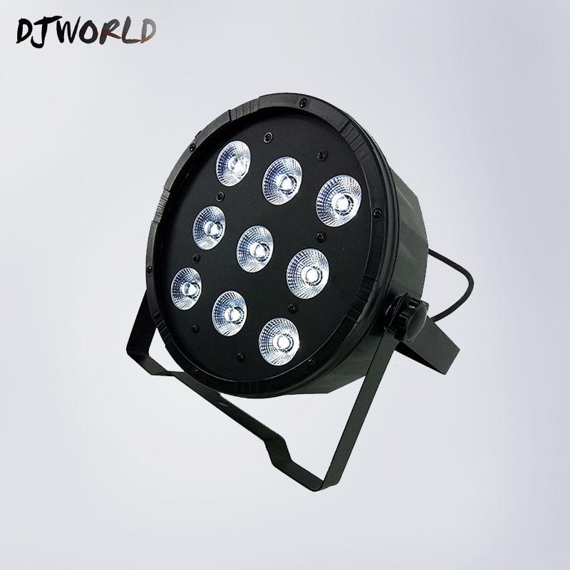 LED The brightest 8 dmx Channels Led Flat Par 7x12W RGBW 4IN1 DJ Stage Lights Disco Club Bar