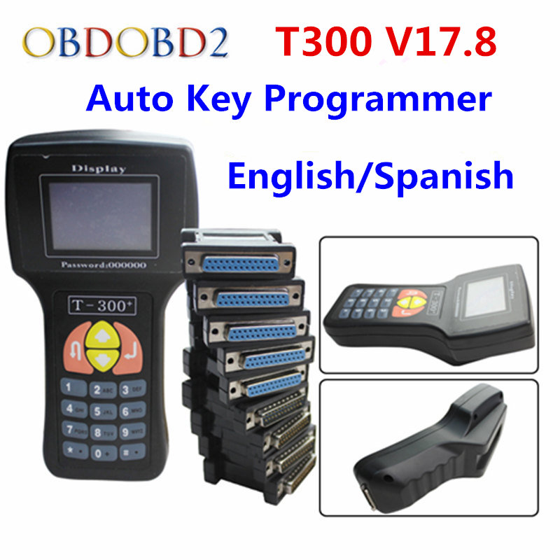 Professional T-300 T300 Auto Key Programmer T Code T 300 Software 2016 V 17.8 Support Multi brand Cars T300 Key Maker
