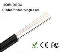 FTTH drop cable single core self supporting fiber optic cable G652D fiber cable Flat fiber Cable Outdoor 1000M/2000M