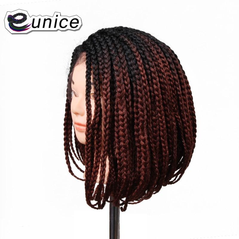 Мода 1 шт. Ombre синтетический парик черный/ошибки/фиолетовый/613 14 короткий боб синтетический Синтетические волосы на кружеве Искусственные п... ...
