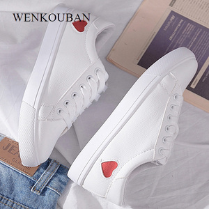 Image 2 - Women Sneakers  Fashion Vulcanized Shoes Casual PU Leather Sneakers White Ladies Trainers Summer Basket Femme Zapatos De Mujer