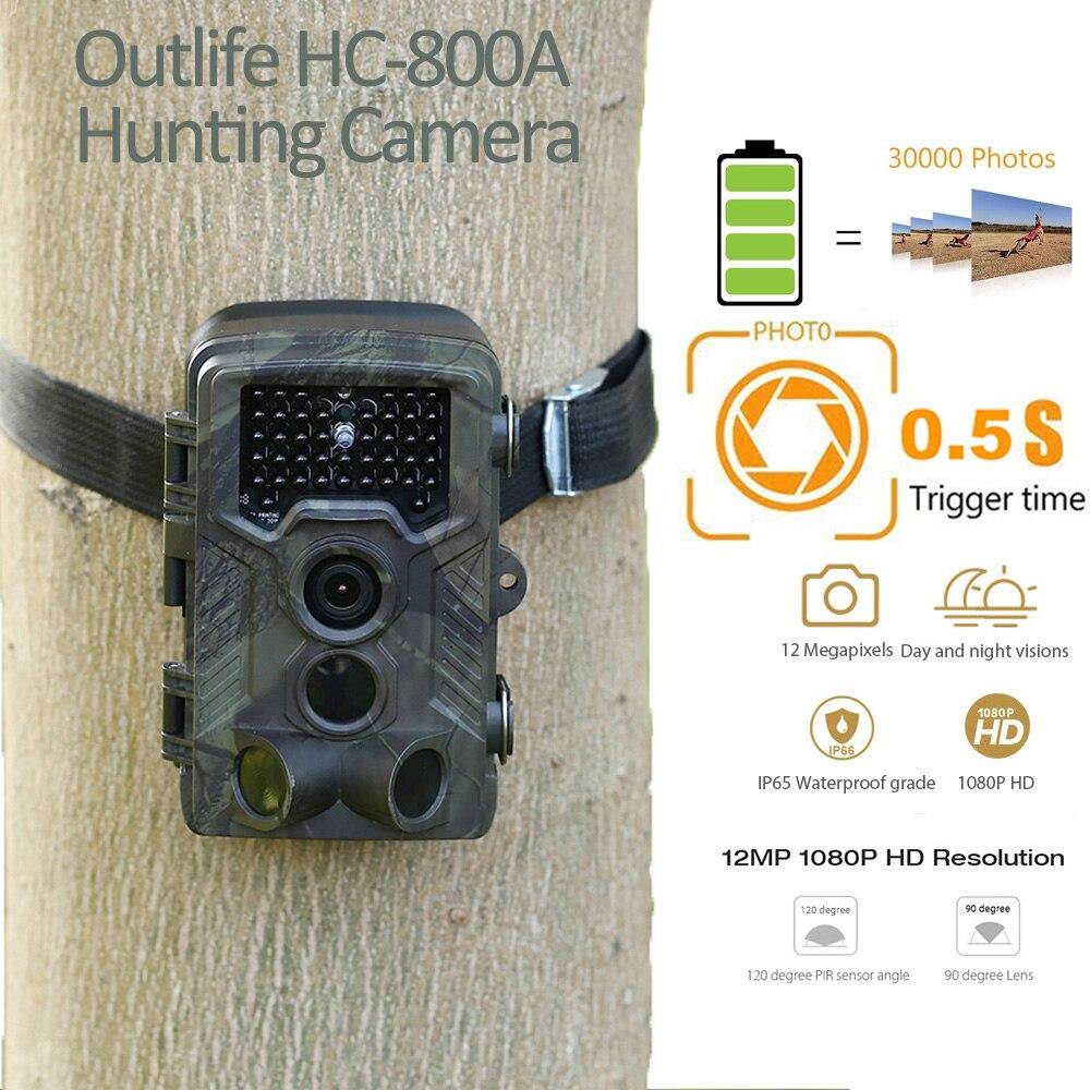 Outlife HC-800A инфракрасная Trail камера s 1080 P HD Цифровая охотничья камера водостойкая инфракрасная ночного видения дикая природа Скаутинг устройс...