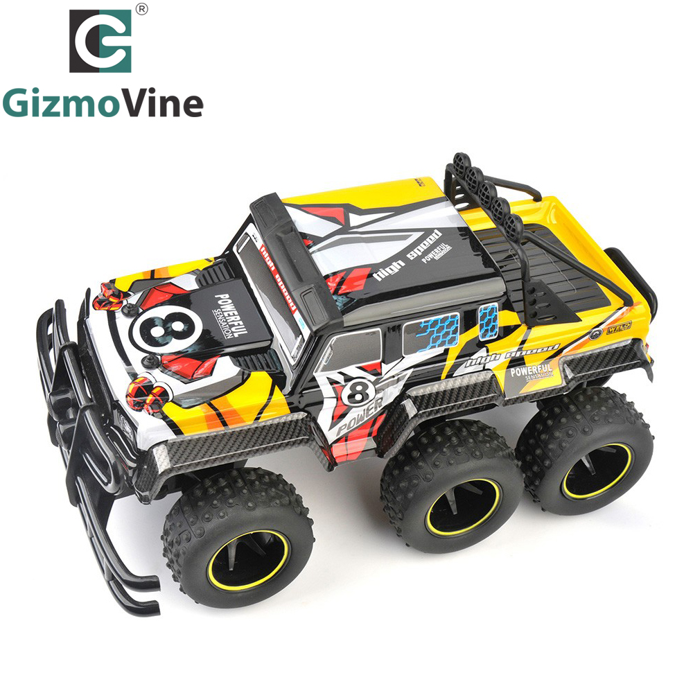 GizmoVine RC Car 6Wheel 2.4GHz Rock Crawlers Rally climbing Car Car Remote Control Model Off-Road Vehicle Toy For Kids Gift