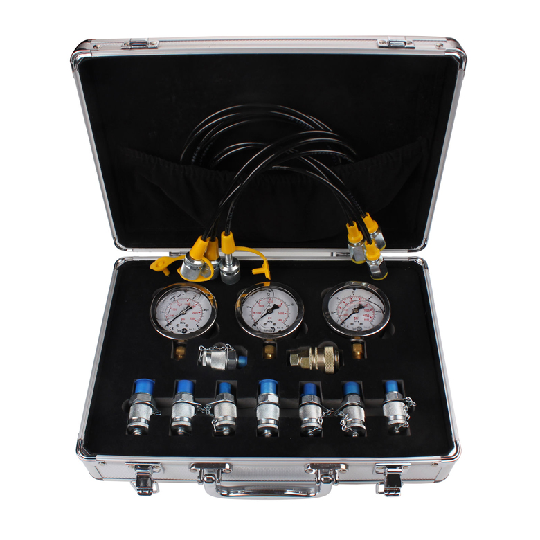 New Excavator Hydraulic Pressure Gauge Diagnostic Test Kit For Excavator Caterpillar gztophid gztophid car bifocal fog lens for honda cr v accord taiwan product front bumper lights high quality free shipping