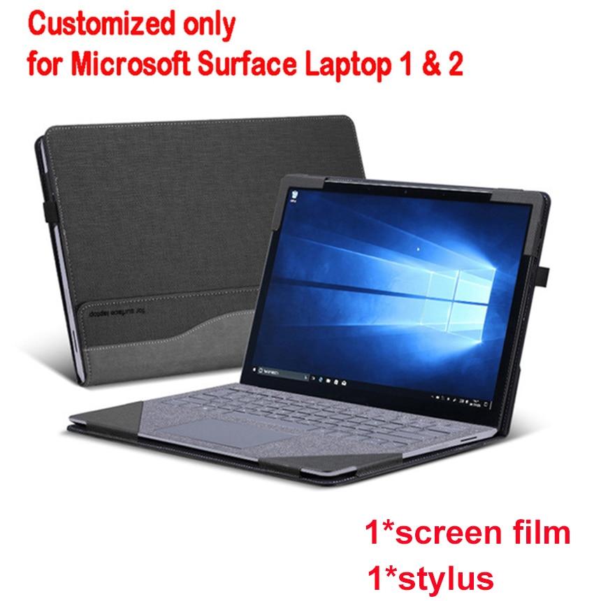 Couverture détachable pour Microsoft Surface ordinateur portable 1 2 13.5 pouces tablette PC pochette pour ordinateur portable Stand Case écran clavier Film stylo 2 en 1