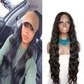 Beleza ondulado brasileiro peruca dianteira do laço 30 de polegada de cabelo humano completo lace wigs 150% densidade branqueada knot cabelo macio & natural bebê cabelo