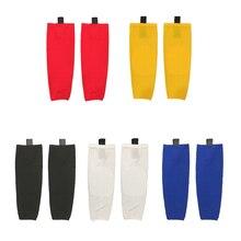 100% полиэстер один Цвет Хоккейные носки оборудования пользовательские команды Спорт Поддержка может пользовательские как ваш логотип/Размеры/Цвет носки W016