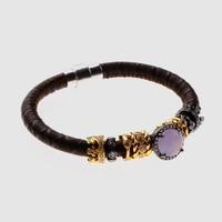 Amorita boutique silver magnet leather bracelets