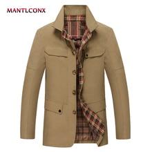 MANTLCONX 2019 Spring Winter Coat Men Casual Coats Mens Brand Clothing Fashion Male Jackets veste hommes 2019 Hot Sale Jacket