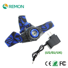 LED Headlight Cree Q5 LED Headlamp Built-in Lithium Battery Rechargeable Head lamps + AC Charger 3 Modes