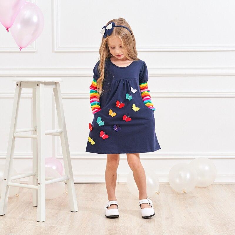 VIKITA Kids Girls Dress Baby Children Toddler Princess Dress Vestidos Children's Clothing Girls Winter Dresses 2-8Y LH5805 MIX