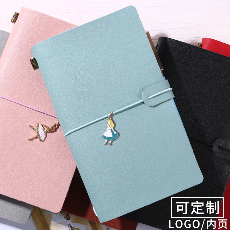 LEnWA Travel Notebook A6 Vintage Literary Tie Rope Diary Notebook 1PCS