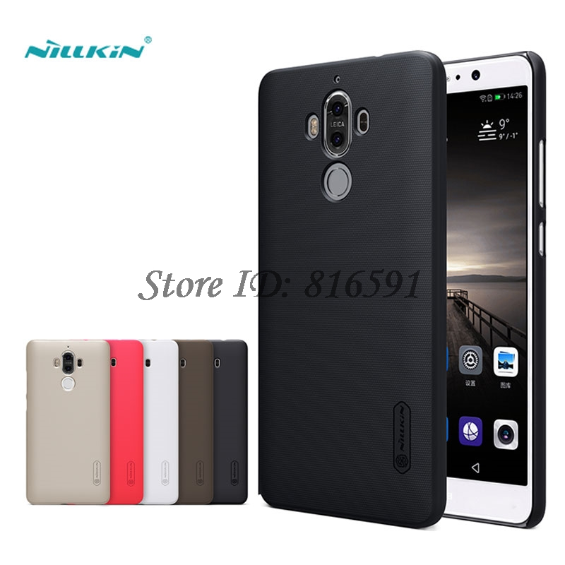 Huawei Mate 9 Case 5.9 inch Nillkin Brand Frosted Shield Hard PC Back Cover Case For Huawei Mate 9 Mate9 With Screen Protector