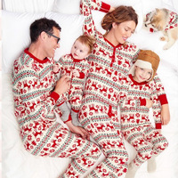 Family Christmas Pajama Family Matching Clothes Matching Mother Daughter Clothes Fashion Father Son Mon New Year