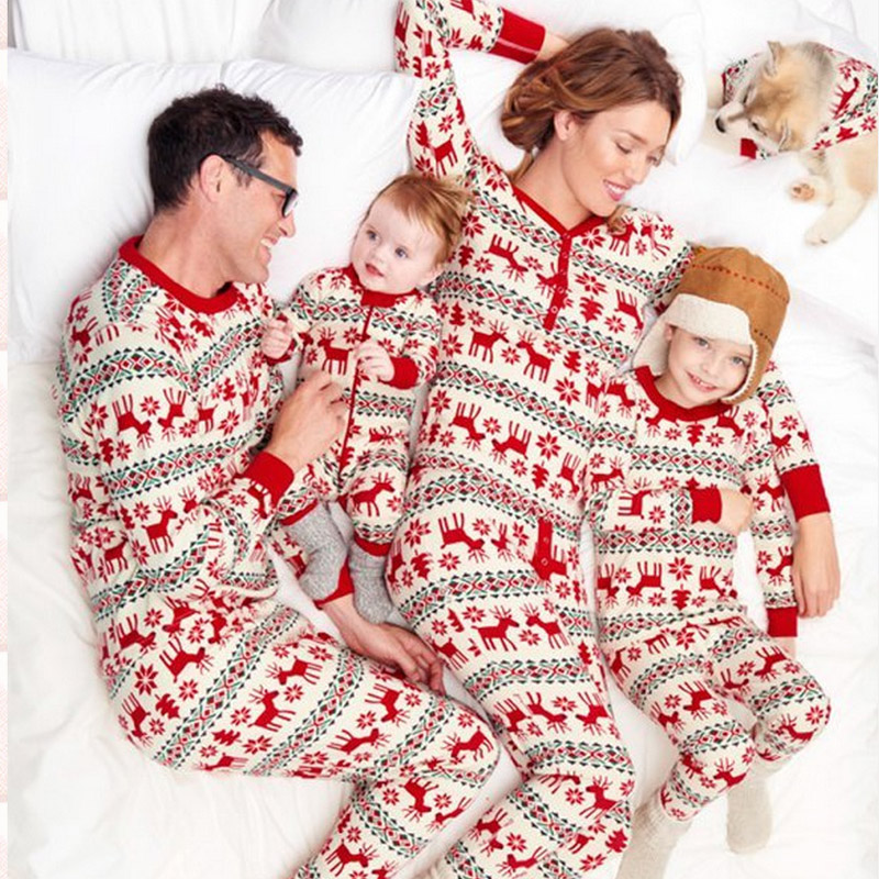 Pajama Family Matching Clothes Matching Mother Daughter Clothes Fashion  Father Son Mon 330b5e32d