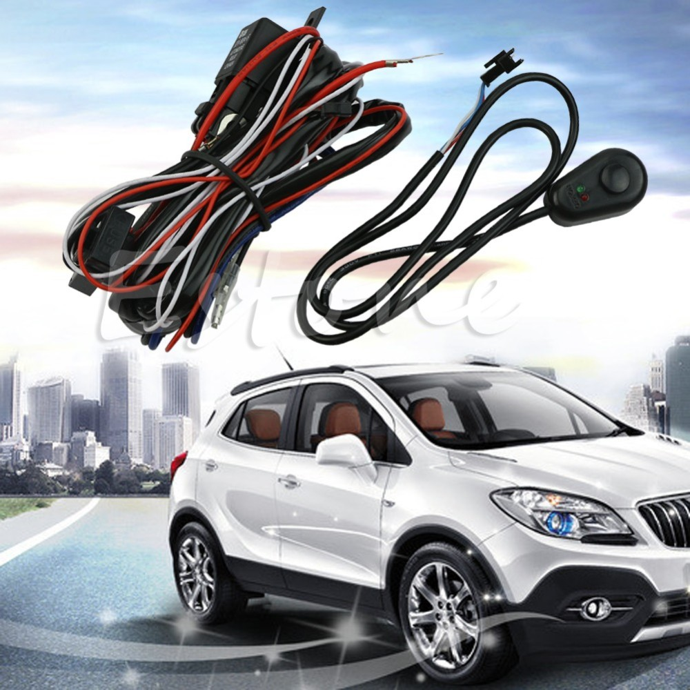 Universal Wiring Harness for Off Road LED Bars LED Work Fog Driving Light ATVS HID Spot Switch Relay Kit 12V 40A